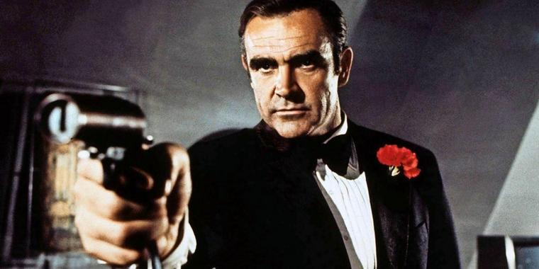 "Sean Connery als Darsteller des Superspions James Bond im Film ""Diamantenfieber""."