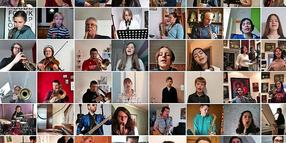 "72 Schülerinnen, Schüler und Lehrkräfte der Musikschule Seelze haben sich am neuen Multitrack-Video ""Thank You For The Music"" beteiligt."