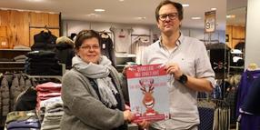 "Tanja König und Michael Selk stellen die Aktion ""Rudolph the red-nosed Rubbeldeer"" vor."