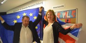 Foto: Kai Schmidt and Mirja Kahle of the British-German friendship circle won't let themselves be freaked out by thinking of Brexit.