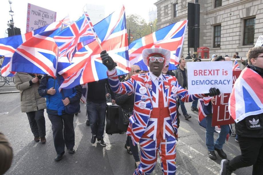 Brexit-Demo am 31.10.2019 in London