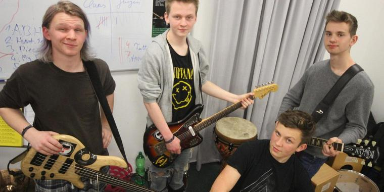 Die Band Appendix: Jakob Froese (v.l.), Fabius Froese, Asmus Lehnhoff und Lee Aspinall.