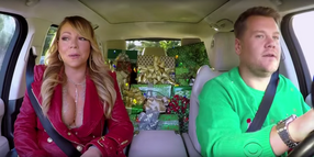 Foto: Mariah Carey mit James Corden beim Carpool Karaoke.