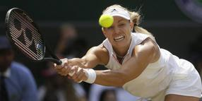 London:  Angelique Kerber in Aktion.