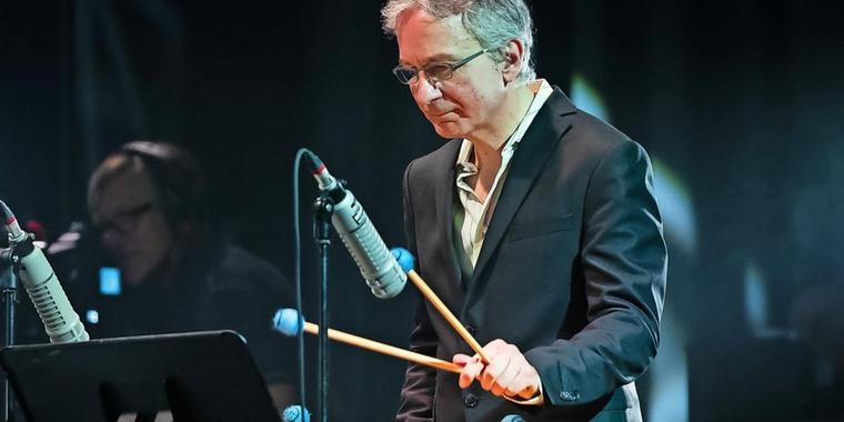 Der Vibraphonist Christopher Dell 2018 bei Jazz Baltica