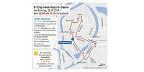 Fridays for Future: Demonstration in Lübeck am 29. November.