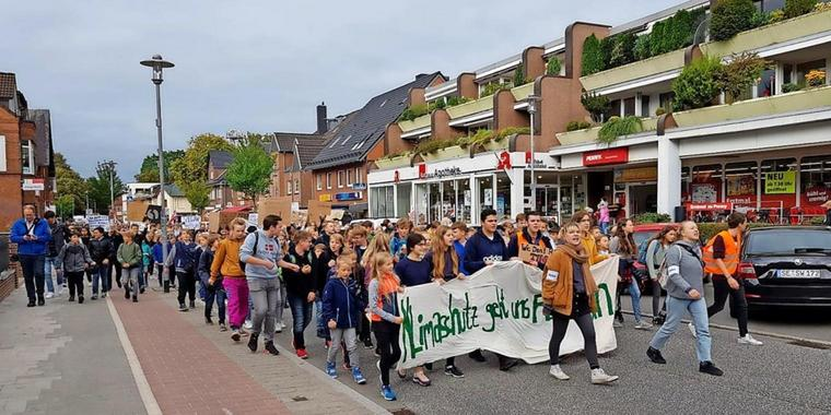 Vor der Pandemie: Fridays-for-Future-Demo in Bargteheide.