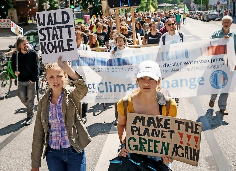 Fridays for Future Demo in Kiel.