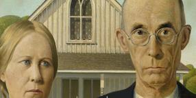 Grant Wood, American Gothic, 1930.
