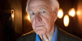 John le Carré beim dpa-Interview in Hamburg.