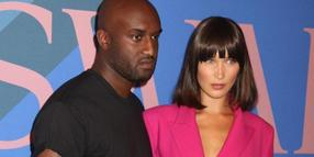 "Model Bella Hadid und Designer Virgil Abloh bei der Verleihung der ""CFDA Fashion Awards""."