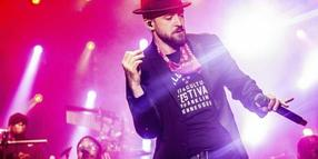 Justin Timberlake 2017 beim Pilgrimage Music and Cultural Festival.