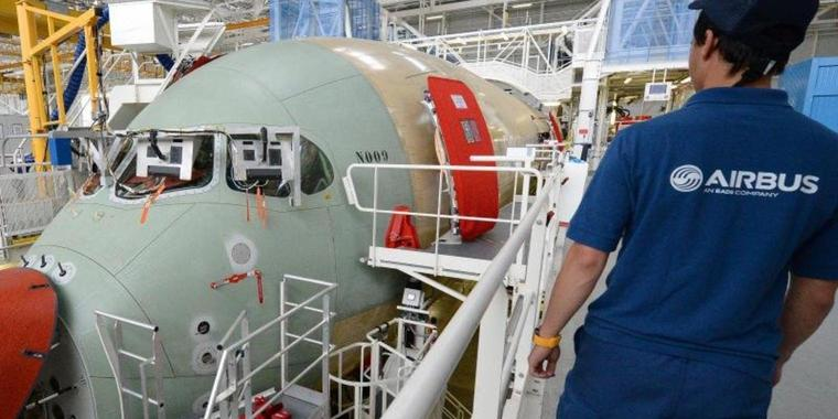 Produktion bei Airbus inToulouse.