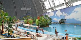 Blick ins Tropical Islands in Krausnick.