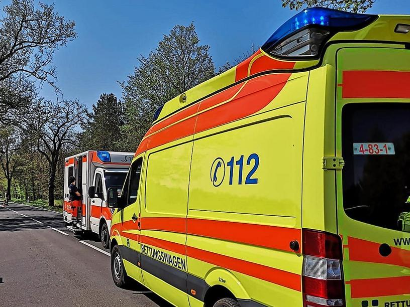 Unfall L 96 bei Knoblauch.