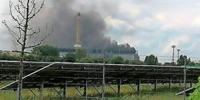 Brand bei Riva am Donnerstag.
