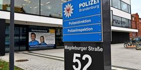 Die Polizeidirektion in der Magdeburger Straße in Brandenburg.