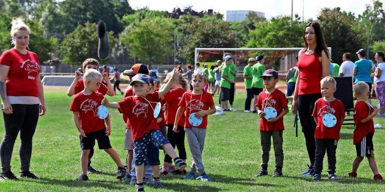 Familiensportfest des Kreissportbundes in Rathenow zum Integrationstag.