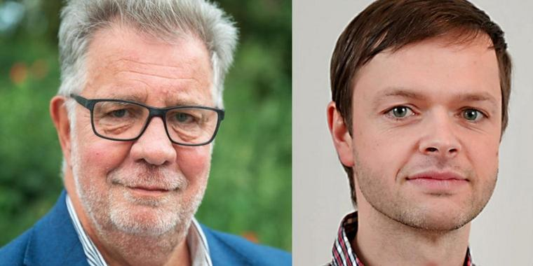 Amtsinhaber Jens-Peter Golde (l.) und Herausforderer Nico Ruhle.