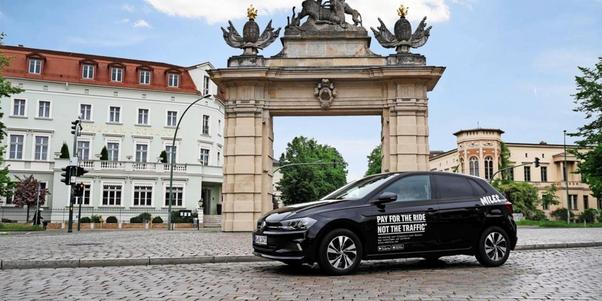 Carsharing-Auto der Firma Miles in Potsdam.