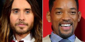 Die US-Schauspieler Jared Leto (l) und Will Smith. Fotos: Paul Buck/Jens Kalaene