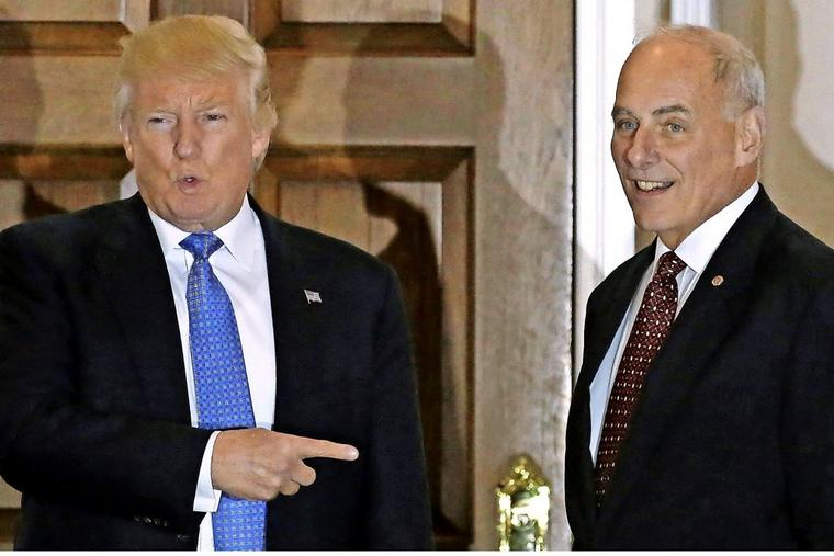 John Kelly (re,) war 40 Jahre lang bei den Marines