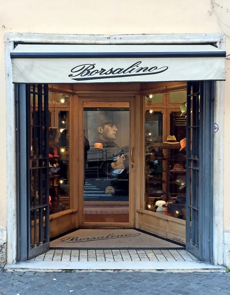 Die Borsalino-Boutique in Rom