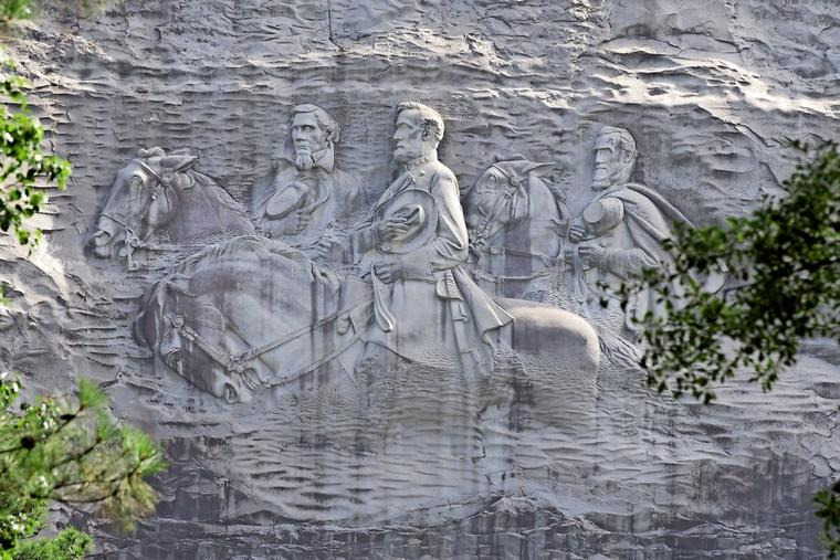 Heldenverehrung am Stone Mountain in Georgia
