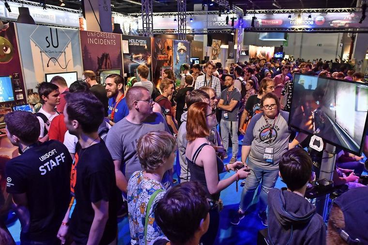 Großer Andrang in der Indie Arena Booth