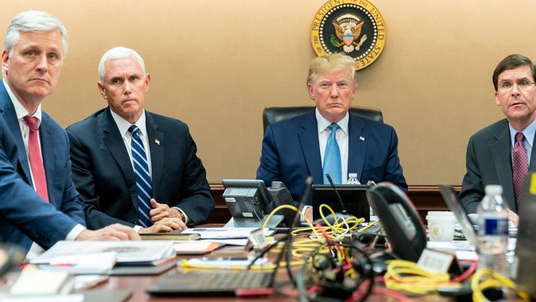 Donald Trump im Situation Room.