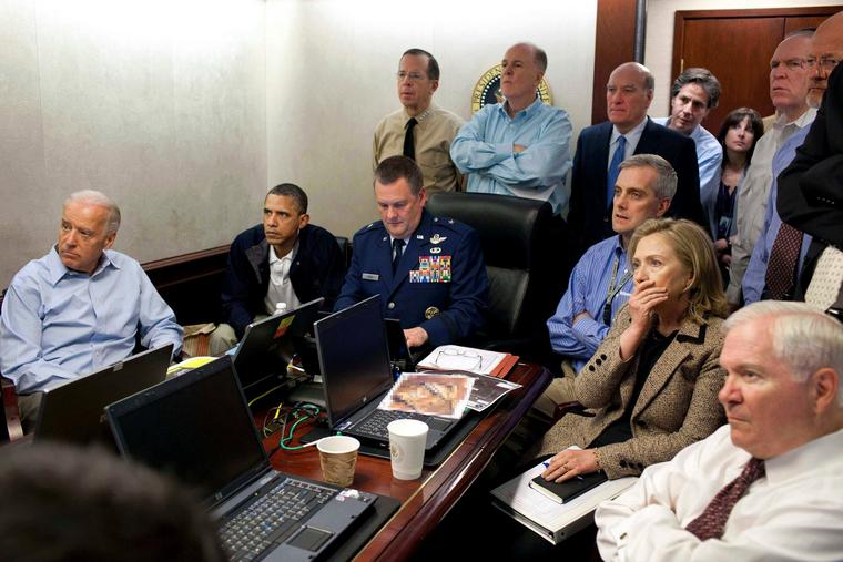 Ex-US-Präsident Obama im Situation Room.