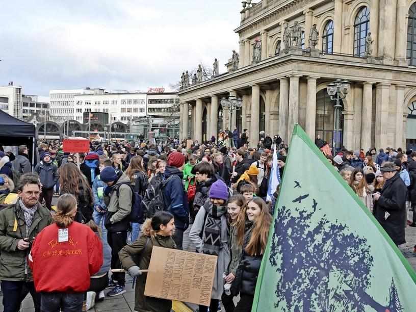 """""""Fridays For Future""""-Protest in Hannover."""