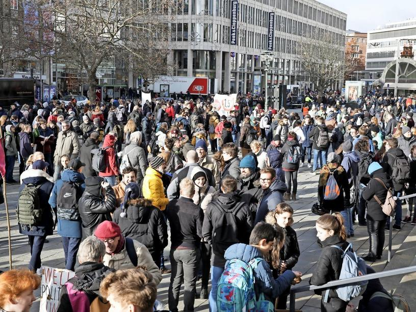 """Fridays For Future""-Protest in Hannover."