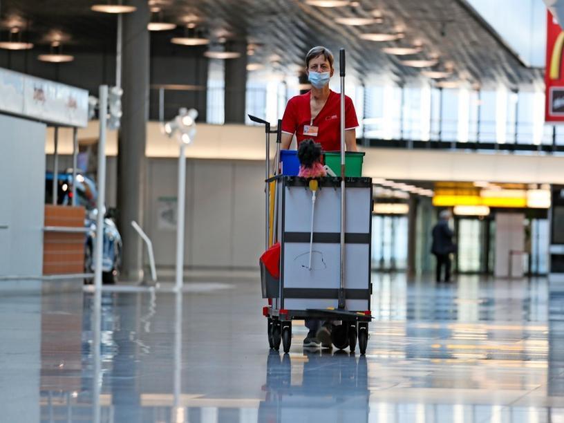 Hannover, Reportage Hannover Flughafen und Corona., Foto: Rainer Droese