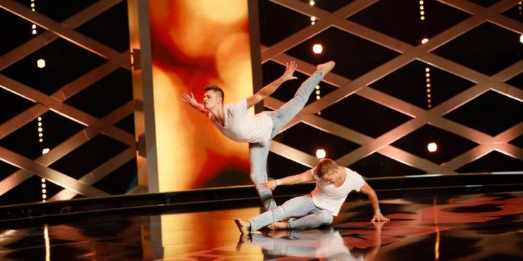 "Das Duo Piti bei ""Got to Dance""."