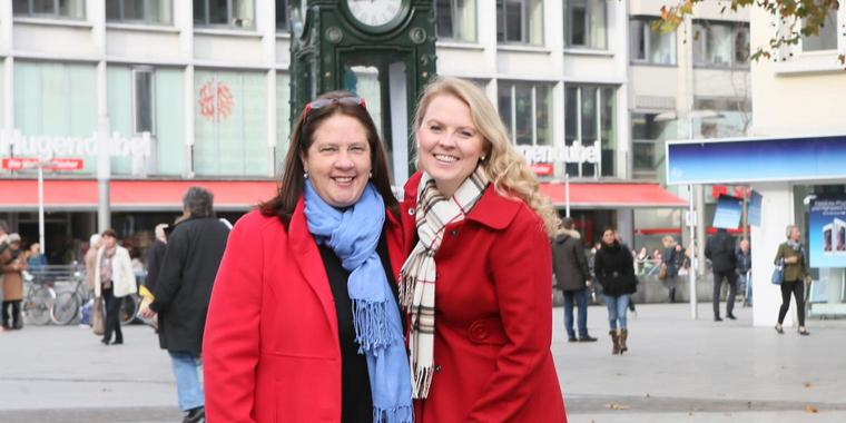 Hannover  Interview mit Patricia und Kathy Kelly (Foto: Rainer Droese)