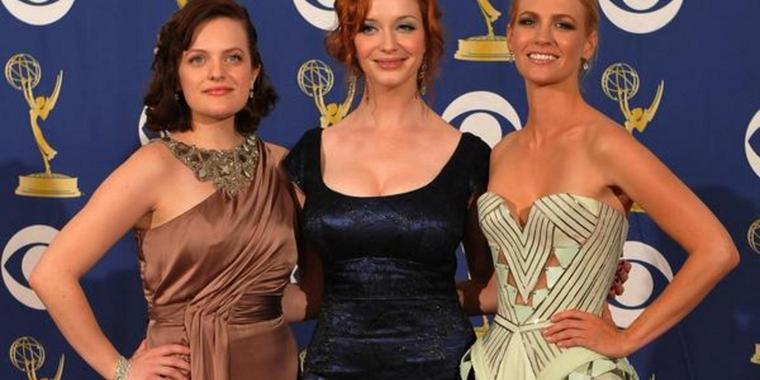 "Erfolgreiche Darstellerinnen: Elisabeth Moss, Christina Hendricks and January Jones (von links) aus der Serie ""Mad Men""."