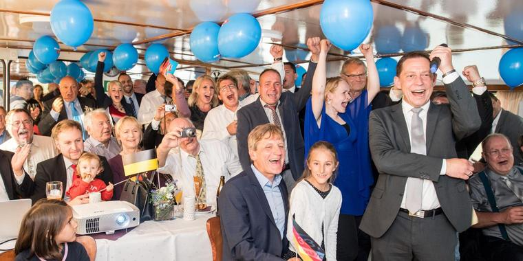 AfD-Wahlparty in Baden-Württemberg.