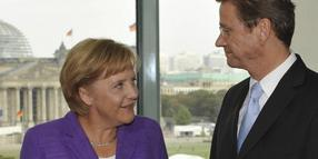 Koalitionspartner: Angela Merkel und Guido Westerwelle.