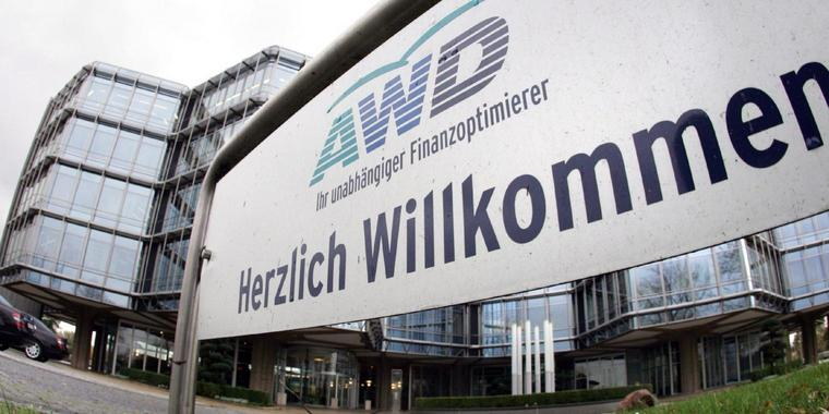 Zentrale des Finanzdienstleisters AWD in Hannover.