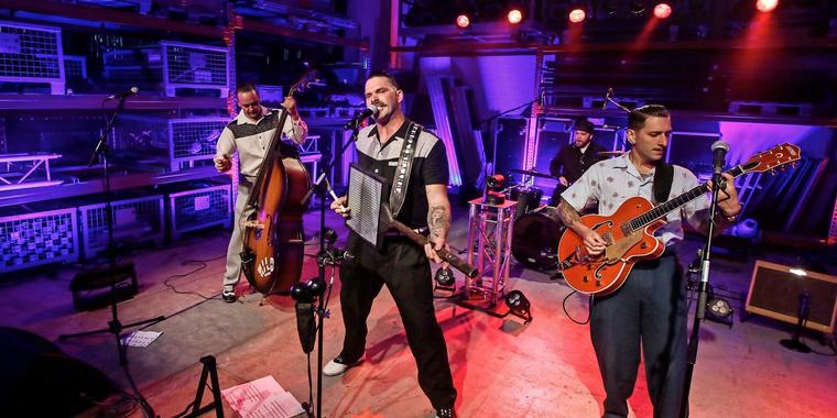 Rhythm Torpedoes im OP-Livestream am Vatertag. Foto: Nadine Weigel