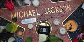 Michael Jacksons Stern auf dem Walk of Fame in Hollywood.