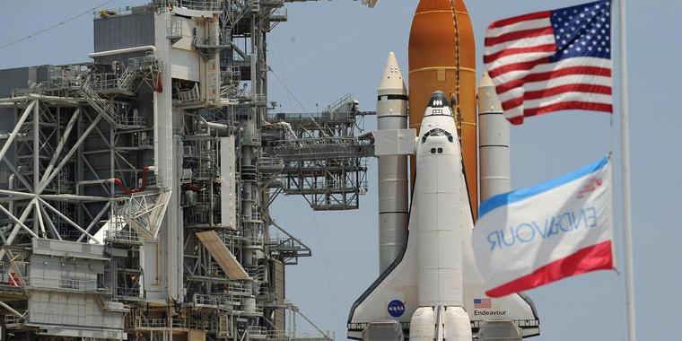 NASA  Space Shuttles Endeavour Internationale Raumstation ISS
