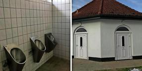 Die Toilette an der B105 in Bad Doberan.
