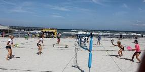Tennis am Ostseestrand