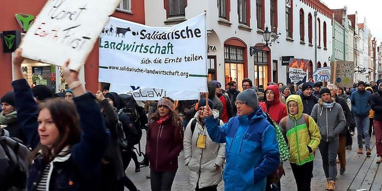 "Eine ""fridays for future""-Demo 2019 in Wismar"