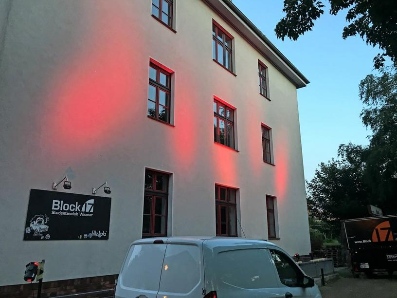 Der Studentenclub Block 17 in Wismar.