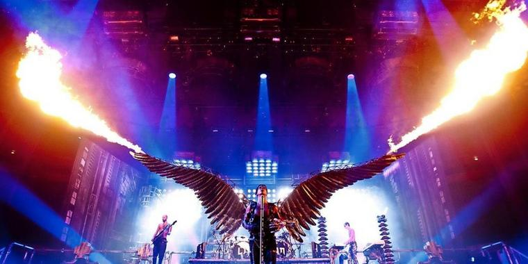 Action pur: Rammstein live in New York.