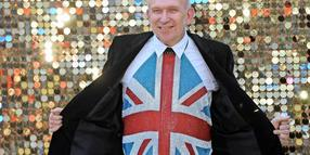 Mit Union Jack: Jean Paul Gaultier.