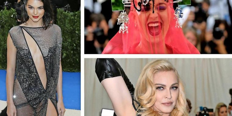 Madonna (re.unten), Katy Perry (re., oben) und  It-Girl Kendall Jenner.